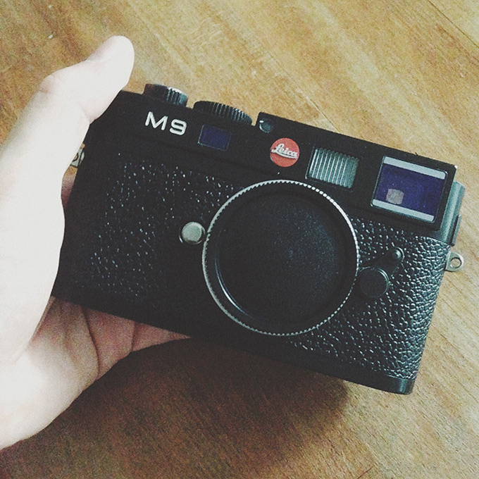 Leica M9 in meiner Hand